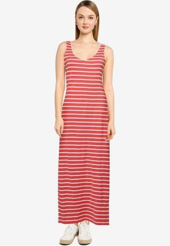 ONLY red May Life V-neck Dress 26E32AA6783DCBGS_1
