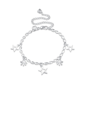 Glamorousky silver Fashion Simple Hollow Star Anklet 9CCE0AC37B67E3GS_1