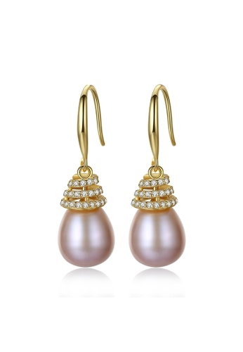 A.Excellence pink Premium Pink Pearl Elegant Earring BDCCCAC52909B7GS_1