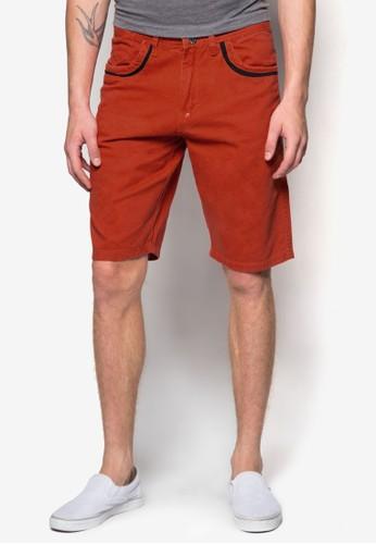 撞色短褲esprit outlet hong kong, 服飾, 短褲