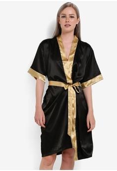 46512feb75 Impression black Satin Kimono Robe IM679AA67VQYMY 1