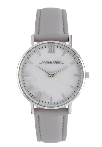 Andreas Osten silver Andreas Osten AO-18026 Women's Silver Analogue Quartz Watch with Leather Bracelet 37515AC4D07FCDGS_1
