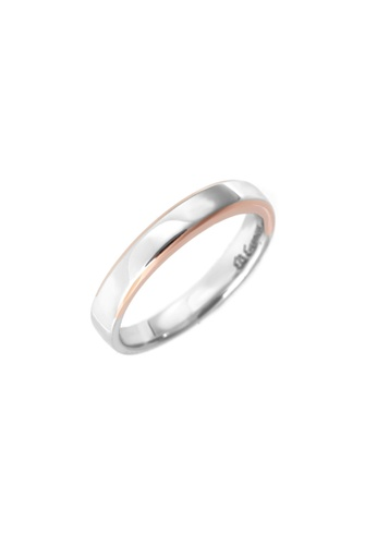 GOLDHEART gold GOLDHEART Evermore Ring (Male), White Gold & Rose Gold 750 (EBE-R4856) 0119DACBD45DF2GS_1
