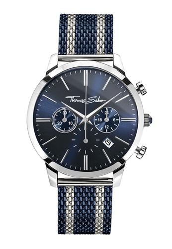 """Thomas Sabo blue Men's Watch """"REBEL SPIRIT CHRONO"""" 9B155AC436A108GS_1"""