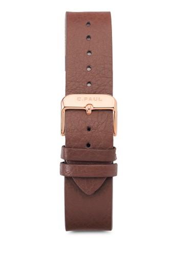 43mm 皮革錶esprit門市帶, 錶類, 皮革錶帶