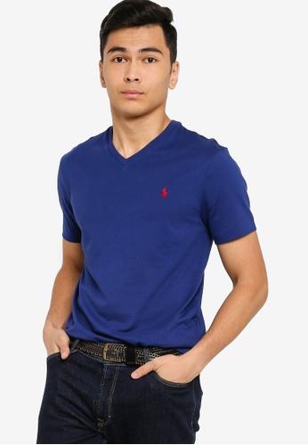 Polo Ralph Lauren blue Short Sleeve Crew Neck Custom Slim fit T-Shirt F1355AA59E8AE8GS_1