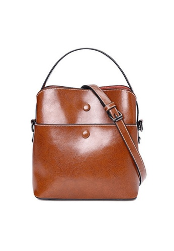 Twenty Eight Shoes brown VANSA Burnished Cow Leather Hand Bag VBW-Hb6333 94960AC111FA0AGS_1