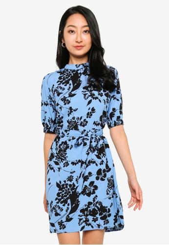 JACQUELINE DE YONG blue Lion 2/4 High Neck Dress 42A3AAA9B60CD4GS_1