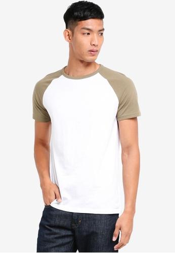 Burton Menswear London 綠色 撞色短袖T恤 C4C25AA869599AGS_1