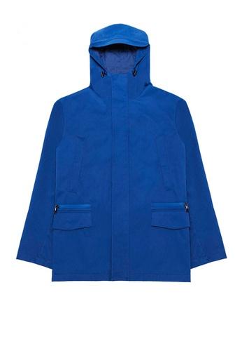 Kent and Curwen blue Blue Hoodied Jacket D990EAA80E92E6GS_1