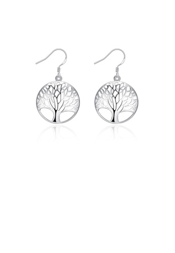 Glamorousky silver Fashion Classic Tree Earrings 441CDACEBFC2CBGS_1