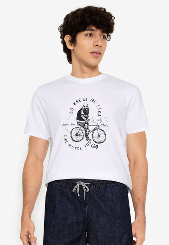 Springfield white Bike Line T-Shirt 237A9AA148EE42GS_1