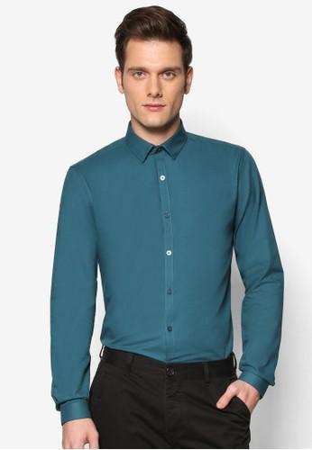 修zalora 折扣碼身正式感素色長袖襯衫, 服飾, 服飾