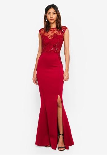Lipsy red Embroidered Sequin Maxi Dress EC20CAA2404E6CGS_1