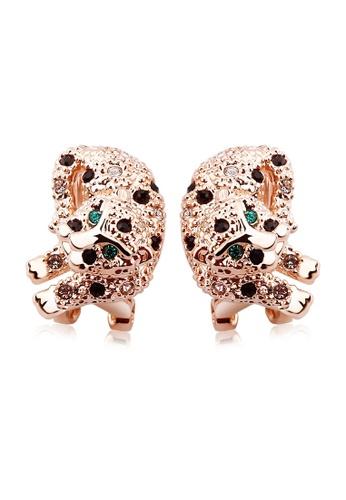OUXI gold OUXI Leopard Earrings OU821AC60EFJMY_1