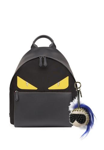 FENDI black SET OF FENDI BAG BUGS BACKPACK AND KARL LAGERFELD BAG CHARM 02FA7ACBFA4488GS_1