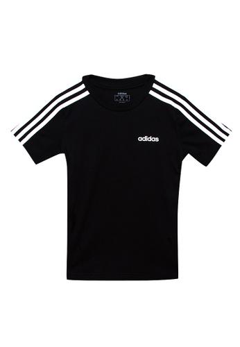 ADIDAS black youth boys essentials 3 stripes t-shirt CE860KAFDC4A25GS_1