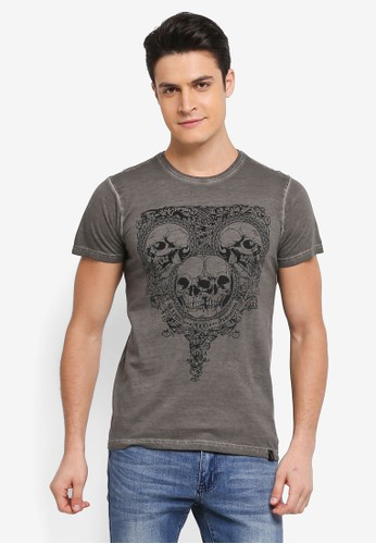 Indicode Jeans grey Foggia Box Graphic T-Shirt 8C005AAD1D757AGS_1