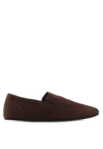 Minarno brown Brown Canvas Slip-On ND126 MI641SH43ZAUID_1