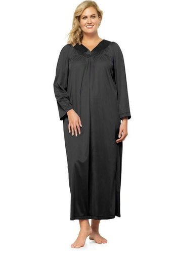 Naturana black Long sleeve gown 01FC0AAC144155GS_1