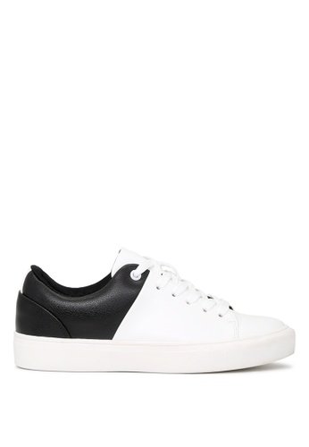 London Rag white BLACK and WHITE Lace-up Sneakers SH1664 ACF31SH8FDC142GS_1