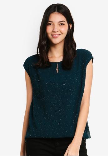 ESPRIT green Woven Short Sleeve Top 77E99AA1B7B697GS_1
