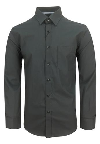 3b6ebb26a608 Pacolino black and grey Pacolino - Plain Formal Casual Long Sleeve Men Shirt  10AC9AA1B2FC7CGS_1