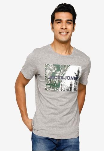 Jack & Jones grey Stein Short Sleeve T-Shirt 9875DAA428E451GS_1