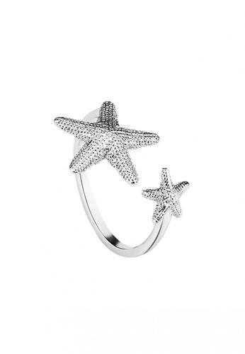 OUXI OUXI Cubic Zirconia Star Ring 40196 OU821AC92FDFMY_1