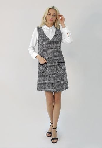 Cheetah grey C.Union Jumper Dress-CUL-19336 EAB5BAA4E3C32FGS_1