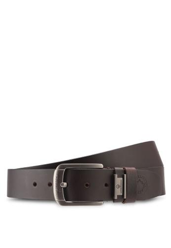 Lumberjacks brown Lumberjacks 35mm Genuine Leather Extra Long Belt FCF60AC2E0FE18GS_1