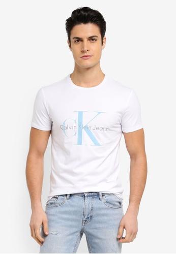 Calvin Klein white Tink Slim Crew Neck Short Sleeve T-Shirt - Calvin Klein Jeans 55C74AA4DFADC4GS_1