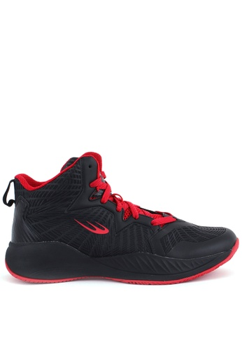 World Balance black Court Hustle Mens Basketball Shoes 6FF70SH78FB0DCGS_1