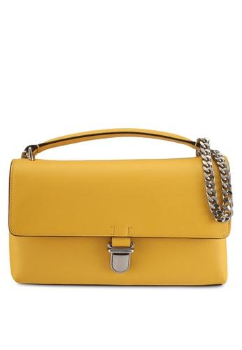 Calvin Klein yellow Sculpted Flap Sling Bag - Calvin Klein Accessories 8F568AC068560FGS_1