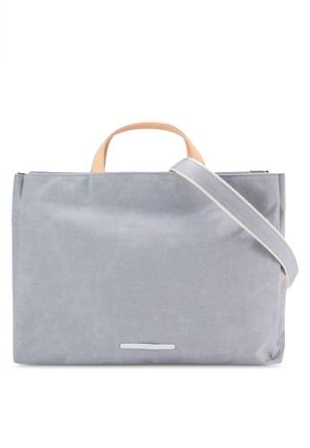 Rawrow grey Waxed 220 Triple Crossbody Bag RA312AC07VZCMY_1