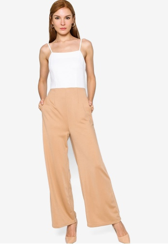 ZALORA WORK multi Colourblock Jumpsuit 9B29FAAED4DEFBGS_1