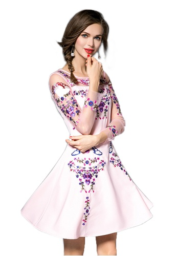 Sunnydaysweety pink Fairy Style Pink Polyester One-piece Dresses UA110906-0 61572AA939AFA4GS_1