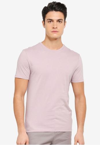 Topman pink Violet Pink Slim Crew Tee TO413AA0T1IRMY_1