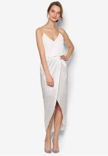 Annesprit旗艦店ie 裹式開衩裙擺吊帶連身裙, 服飾, 服飾