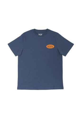 Von Dutch navy Von Dutch Flying Eyeball Gradient Print Navy Tee Shirt 0FBD8AACB626EAGS_1