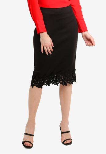 0d028e02b80 Dorothy Perkins black Black Lace Pencil Skirt 2F2BAAA5EE6985GS 1