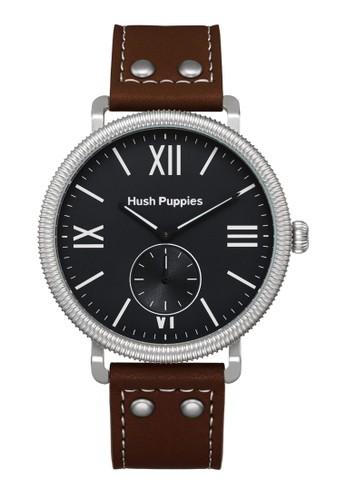 Hush Puppies Watches brown Hush Puppies 1958 Men's Watch HP 3853M.2502 Black Brown Leather HU334AC0UHKDID_1