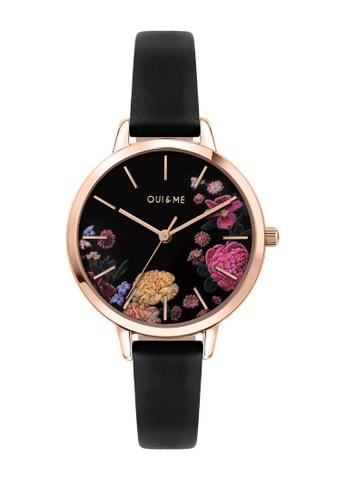 Oui & Me black Fleurette Quartz Watch Black Leather Strap ME010101 D634FACD3EDC7EGS_1