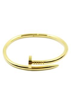 Venice Twisted Nail Bracelet Bangle (18k Gold Plated)