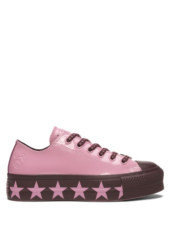Converse pink Converse X Miley Cyrus Chuck Taylor All Star Lift Stars  Inspired Ox Sneakers BCAE2SHE13BEFCGS 1 647629928e91