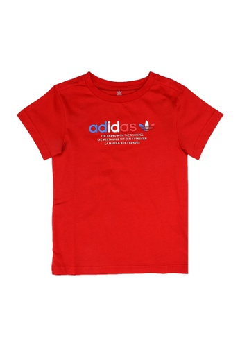 ADIDAS red adicolor graphic tee A6BA3KA2351BBDGS_1