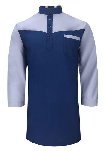 Pacolino blue Baju Kurta Muslim For Kids - D27090 (Dark Blue) 44888KA9A36F76GS_1