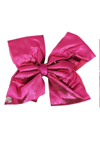 Jojo Siwa red Jojo Siwa Bow With Clip (Glitter Rose Red) BA639KC29D7986GS_1