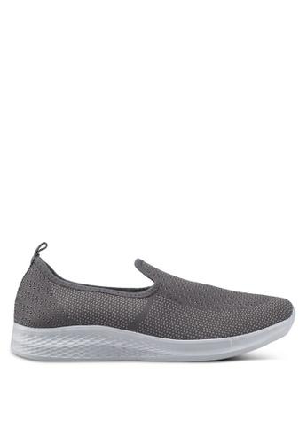 Spiffy grey Light Knit Sneakers 5C43DSH901BA52GS_1