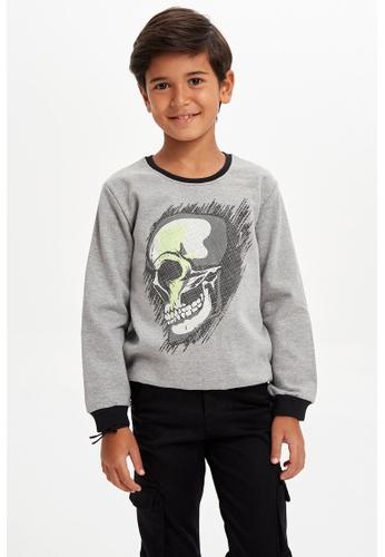 DeFacto grey Long Sleeve Round Neck Sweatshirt 1B194KA5087026GS_1